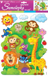 Sticker perete 3D, animale  width=190px; height=190px;