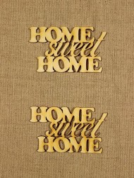Forme din lemn -  Home Sweet Home (2 buc/set)  width=190px; height=190px;