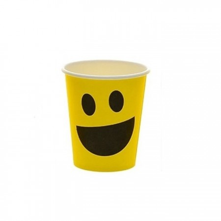 Pahar din carton - Smiley 150 ml, 6buc/set