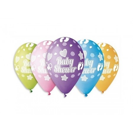 Baloane colorate - 30 cm, mixt, Baby Shower