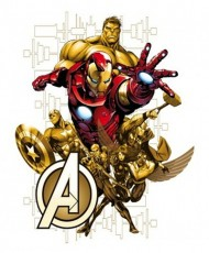 Decor perete cu licenta Marvel-Avengers  width=190px; height=190px;