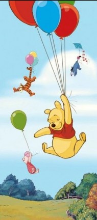 Fototapet, Winnie the Pooh vertical (90x202cm)  width=190px; height=190px;