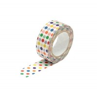 Washi Tape banda decorativa (15mm x 10m) - buline colorate